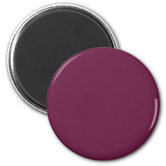 Modishly Masterful Maroon Color 2 Inch Round Magnet