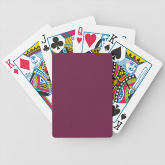 Modishly Masterful Maroon Color Bicycle Playing Cards