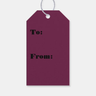 Modishly Masterful Maroon Color Gift Tags