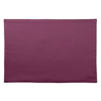 Modishly Masterful Maroon Color Placemat