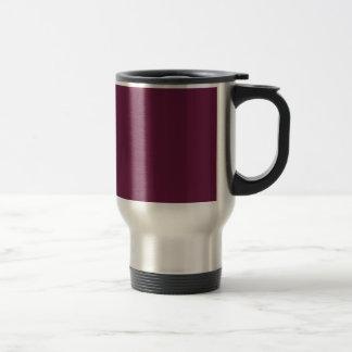 Modishly Masterful Maroon Color Travel Mug