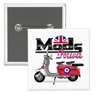 Mods Forever - Scooter 2 Inch Square Button