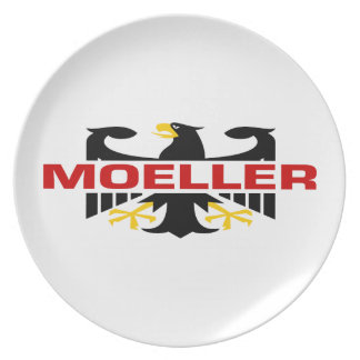 Moeller Surname Party Plate