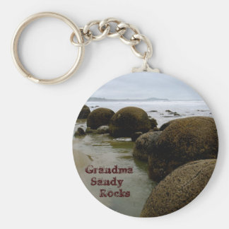Moeraki Boulders Grandma   Sandy      Rocks Keychain
