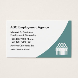 Moern Job Agency Business Cards