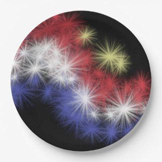 Moe's Fireworks Paper Plate