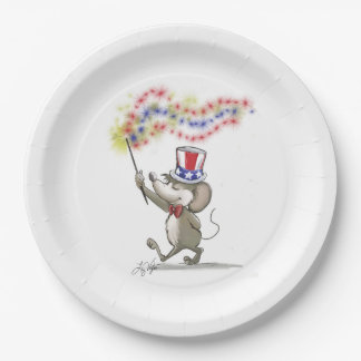 Moe's Happy 4th of July Paper Plate