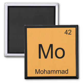 Mohammad Name Chemistry Element Periodic Table Square Magnet