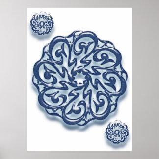 Mohammed (pbuh) calligraphy... poster