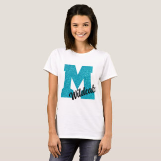 Mohave Wildcats - Glitter 'M' tshirt