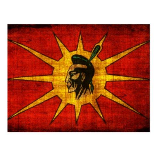 Mohawk People Flag Postcard Zazzle Ca