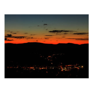 Mohawk Trail Hairpin Turn Twilight Postcard