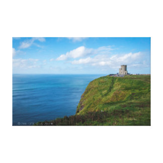 Moher Tower, The Cliffs of Moher, Ireland. Canvas Print