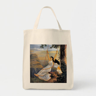 MOHINI ON A SWING grocery tote