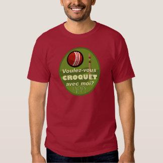 Moi d'avec de croquet de Voulez-vous ? T-shirt