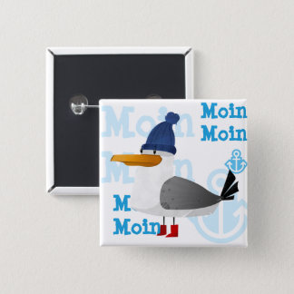 """Moin Moin"" Seagull 2 Inch Square Button"