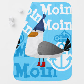 """Moin Moin"" Seagull Baby Blanket"