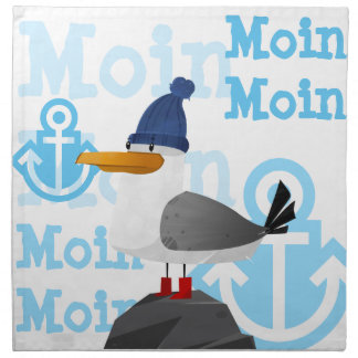 """Moin Moin"" Seagull Napkin"