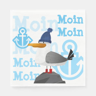 """Moin Moin"" Seagull Paper Napkin"