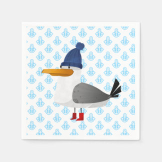 """""""Moin Moin"""" Seagull Paper Napkins"""