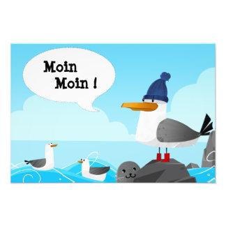 """Moin Moin"" Seagull Photo Print"