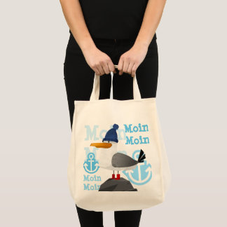"""""""Moin Moin"""" Seagull Tote Bag"""