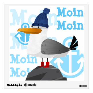 """Moin Moin"" Seagull Wall Sticker"