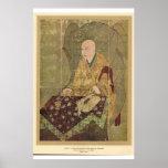 Moine asiatique classique de XIVème siècle du Japo Posters