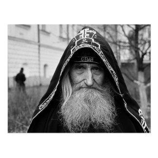 Moine orthodoxe de schéma carte postale