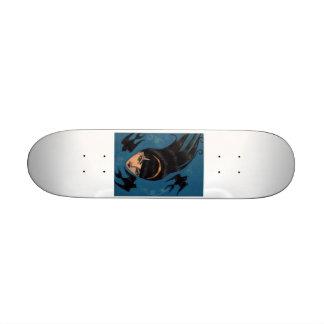 Moineau noir plateaux de skateboards customisés