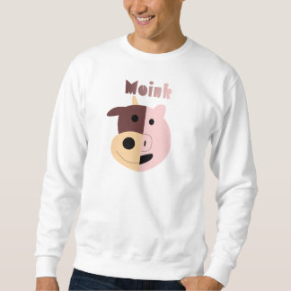 Moink: Cartoon cow and pig men's sweatshirt
