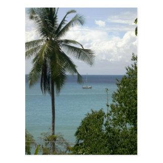 Moira at anchor, Bahia Drake, Costa Rica Postcard