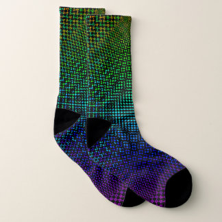 Moire Checkers by Kenneth Yoncich Socks
