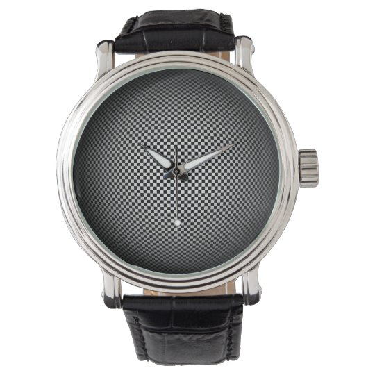 Moire Chequered Sphere Classic Watch