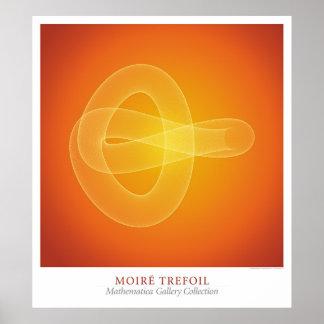 Moire Trefoil Poster