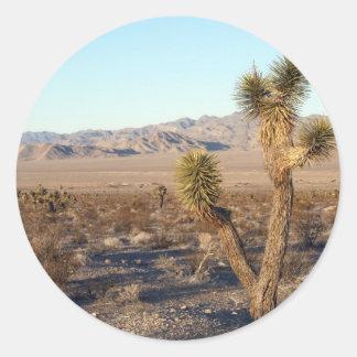 Mojave Desert scene 01 Classic Round Sticker