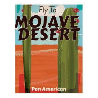 Mojave Desert USA Vintage travel poster. Postcard