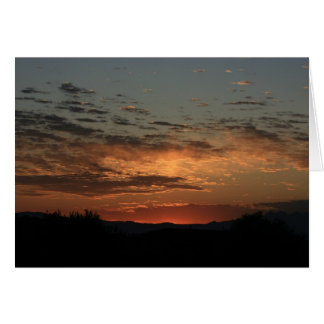 Mojave sunset card