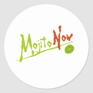 Mojito Now Classic Round Sticker