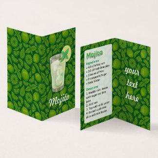 Mojito Recipe Business Card