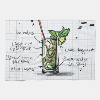Mojito Recipe - Cocktail Gift Kitchen Towel