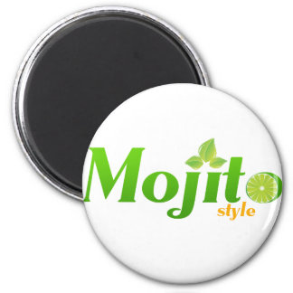 Mojito Style 2 Inch Round Magnet
