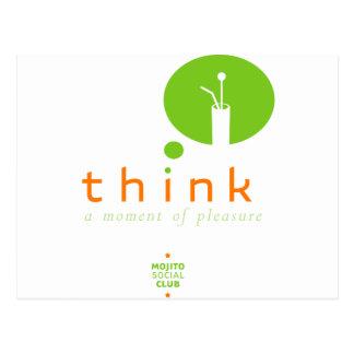 Mojito Think a moment  of pleasure Postcard