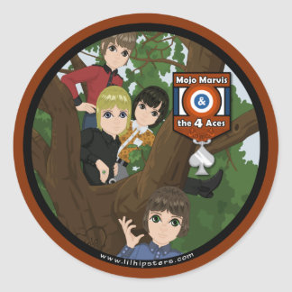 Mojo Marvis & The 4 Aces Classic Round Sticker