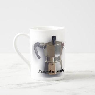 Moka pot- bone china mug