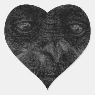 mokey heart sticker