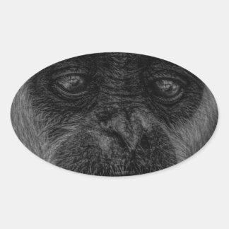 mokey oval sticker