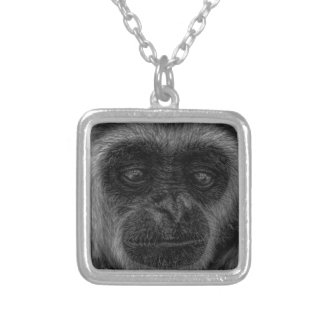 mokey silver plated necklace