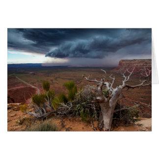 Moki Dugway Thunderstorm - Southern Utah Card