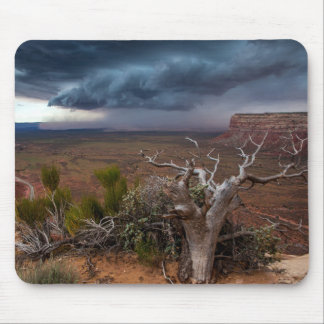 Moki Dugway Thunderstorm - Southern Utah Mouse Pad